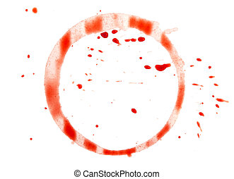 Wine stain on a white background