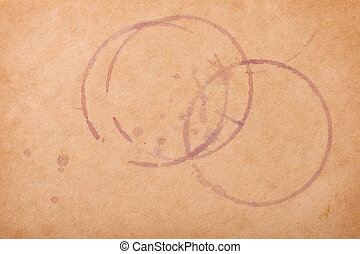 Wine stains on brown paper