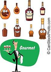 Wine steward and alcoholic drinks