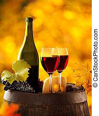 Wine still-life