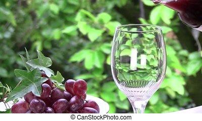wine - I poured wine by a window.