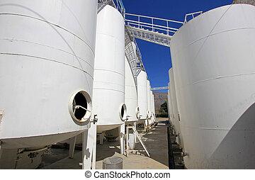 Wine tanks, Cafayate, Argentina