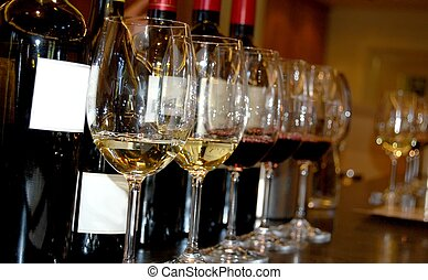 Wine tasting at a winery