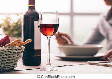Wine tasting at the restaurant