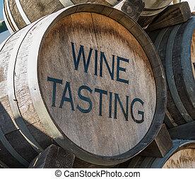 Wine Tasting Barrel