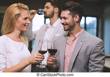 Wine tasting event at winery