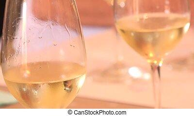 Wine tasting glasses, White wine, France