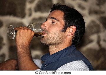 Wine tasting man