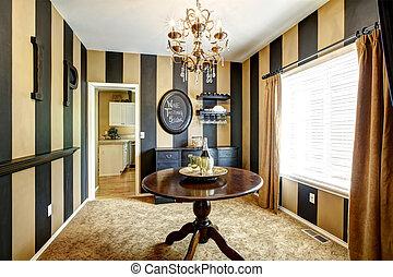 Wine tasting room interior