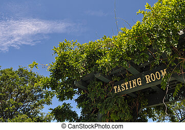 Wine Tasting Room Sign