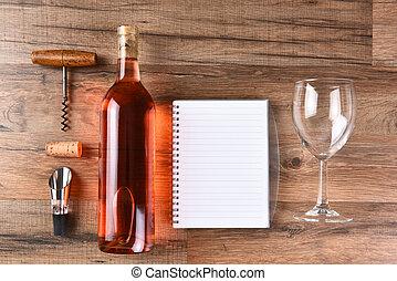 Wine tasting still life