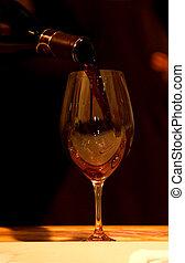 Wine testing - Red wine glass