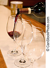 Wine testing - Three glasses for red wine testing