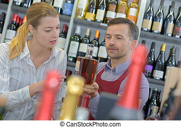 wine vendor and customer