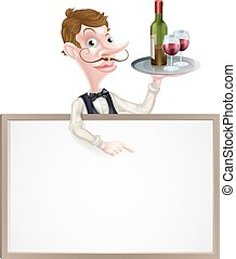 Wine Waiter Sign