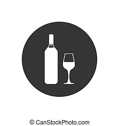 Wine White icon Vector Illustration on the gray