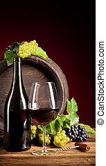 Wine with keg
