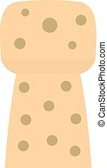 Wine wooden cork icon isolated