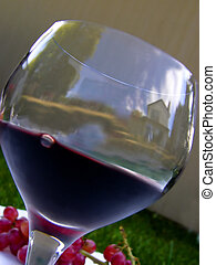 wine#3 - wine glas with a scenery
