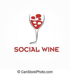 wineglass, ベクトル, デザイン, テンプレート