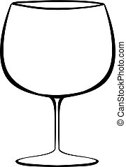 Wineglass - Close up classic design of wineglass