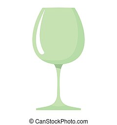 Wineglass dish cartoon icon. Kitchen tool, cookware and kitchenware vector illustration