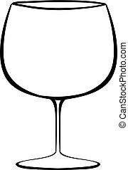 Wineglass - Close up classic design of wineglass