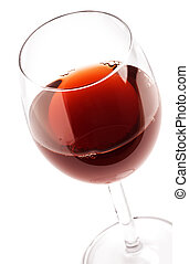 Wineglass - Glass with red wine on white