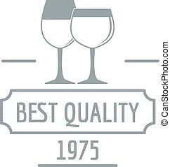 Wineglass logo, simple gray style