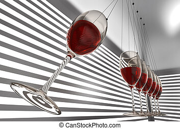 wineglass newton cradle