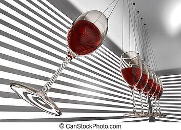 wineglass newton cradle