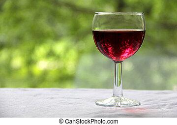 Wineglass on green three