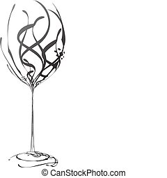The stylized wine glass for fault (vector)