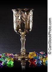 wineglass, treasured, argento