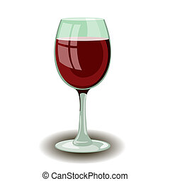 Wineglass with red wine vector