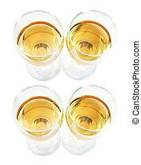 Wineglasses on Isolated White Background