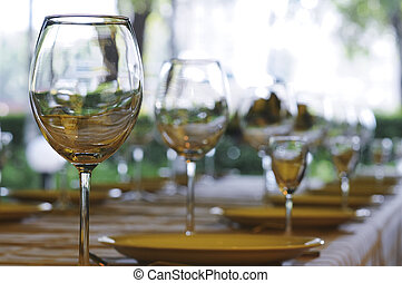 Wineglasses on the table