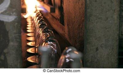 Wineglasses production line