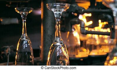 Wineglasses production line - Glassware production line on...