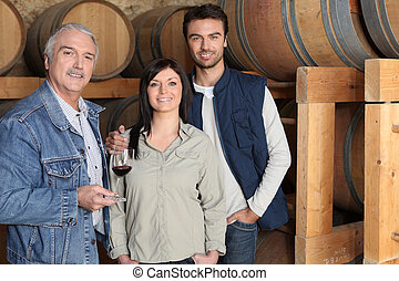 Winemaker giving a tour of his winery