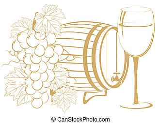 winemaking, szablon