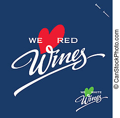 WINES hand lettering (vector)
