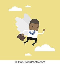 wing., ιπτάμενος , δικός του , επιχειρηματίας , αφρικανός