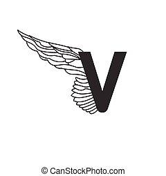 wing., 信, 動態, 雅致, 任何, 紋身, design., 服務, 被隔离, 運動, 白色, 是, 使用, 運輸, 線性, 插圖, 背景, areas., 矢量, 罐頭, v, 或者