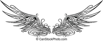 illustration of wings