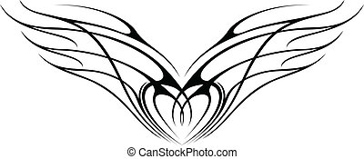 WING 2 - illustration of set lotus silhouette