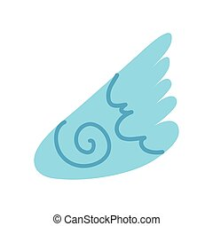 wing angel flat style icon