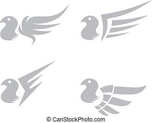 wing art vector graphic art design illustration