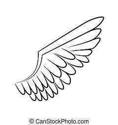 wing bird animal angel icon vector graphic