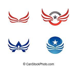 Wing Falcon Logo Template vector illustration design